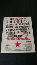 ROXETTE DRESSED FOR SUCCESS  (1989) RARE ORIGINAL PRINT PROMO POSTER AD
