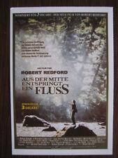 Filmplakatkarte / moviepostercard  Aus der Mitte entspringt ein Fluß