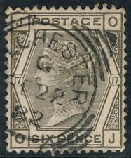 Great Britain • SG 161 • 6d grey Queen Victoria • Plate 17 • Used