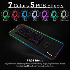 LED Gaming Mouse Pad Large RGB Extended Mousepad Keyboard Desk Anti-slip Mat