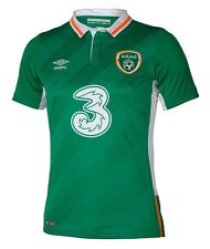 IRELAND (2016 - 2XL,XL,L) (2014 - XL) HOME UMBRO GREEN S/S SOCCER FOOTBALL SHIRT