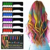 10PCS Dye Temporary Hair Color Comb DIY Disposable Chalk High DIY Light Kit P6B7