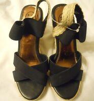 If Carrini Women Wedge Shoes Sz 6.5 Black
