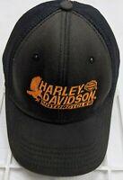 HARLEY DAVIDSON One Size Fits all Orange Black vented trucker hat Nashville TN