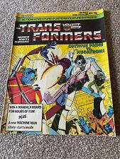 THE TRANSFORMERS COMIC. NO.4. 1ST NOV - 14TH NOV 1984. MARVEL UK. 32 PAGES. 25P.