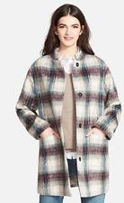 $265 NWT KENNETH COLE NEW YORK Plaid WOOL WINTER Duffle COAT Peacoat M
