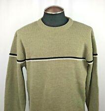 Sonoma Mens Green/Gray Crewneck Sweater Size Medium Long Sleeve Genuine Jean Co
