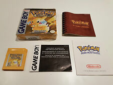 Game Boy - Pokemon Yellow - (Complete Box) - TESTED NEW BATTERY - SHRINK WRAP