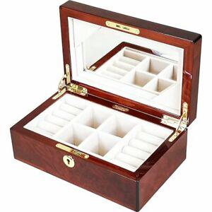 Makah Burl Wood Jewellery Box by Hillwood