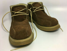 Kangol Rare Old School Mens Brown Leather Suede Lace Up Ankle Boots Size 9M