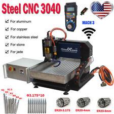 Steel Desktop Cnc 3040 3axis Router Engraving Cutting Machine Mach3 Usb Machine