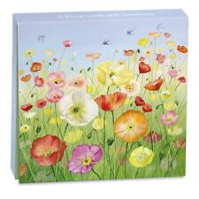 Lucy Grossmith Icelandic Poppies Notelets - 8 Classic Art Cards With Envelopes