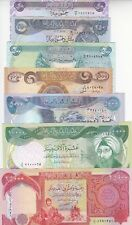 IRAQ 50 250 500 1000 5000 10000 25000 DINAR 2003 P-90 91 92 93 94 95 96 UNC SET