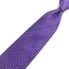 CANALI Purple Geometric Tie 100% Silk Classic Made in Italy