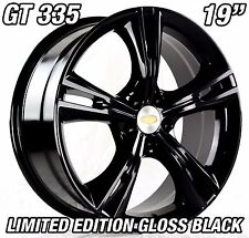 4x GT335 Style 19 inch Gloss BLACK STAGGERED Wheel Ford Falcon AU BA BF FG FPV