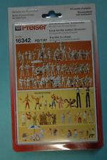 Preiser 16342 Ensemble de Figurines Visiteurs Fête Populaire 60 non Peintes Ho