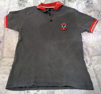 "Southampton FC - Official Merchandise -  Grey Polo Shirt - small 40 "" chest"