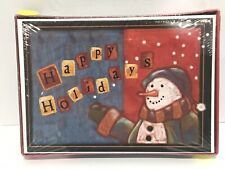 New Snowman Happy Holidays Cards 18 ct Boxed Christmas Rustic B4