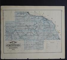 Minnesota Antique County Map 1874 Wabasha County L18#80