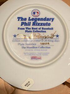 Phil Rizzuto 1992 Hamilton Best Of Baseball Collection Plate NIB COA Yankees