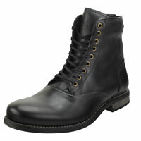 Sneaky Steve Delerius Mens Black Leather Casual Boots