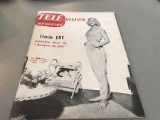 TÉLÉ MAGAZINE N° 49 (septembre 1956) : CLAUDE EMY