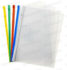 5 X A4 PLASTIC CLEAR WALLET ZIP & SEAL FILE FOLDER ENVELOPE WATERPROOF BAGS