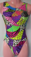 FlipFlop Leos Gymnastics Leotard,  Gymnast Leotards - PATCHWORK SAFARI