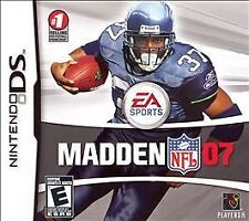 Madden NFL 07 (Nintendo DS, 2006) Complete Game Box Manual NES HQ