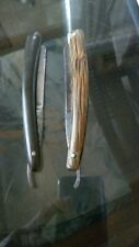 2 VINTAGE CUT THROAT RAZORS 1 STAMPED BUSCH GERMANY AND BENGALL
