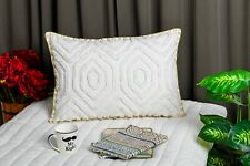 Decorative Pillow Covers 16 x 24 Inches Cotton Abstract Pattern Tufted Pillows