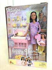 Barbie African American Midge & Baby Happy Family Pregnant Bump Doll Mom 2002
