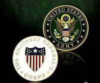 """ARMY THE ADJUTANT GENERAL CORPS 1.75"""" CHALLENGE COIN"""