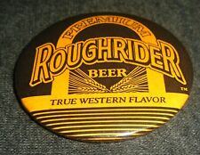 "Cool Roughrider Beer ""Western Flavor"" Vintage Pinback Button"