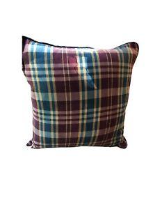 """Plaid Decorative Pillow Cover 20"""" x 20"""""""