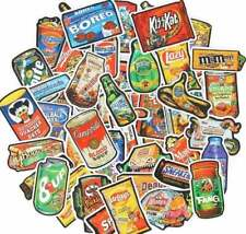 50pcs Snack Food Stickers Brand Spoof Sticker Pack Vinyl Funny Humor Decal