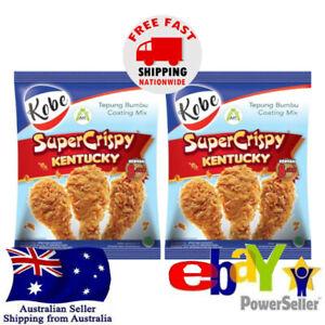 2x Kobe Super Crispy Kentucky Tepung Bumbu Coating 210g Halal Chicken Seasoning