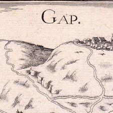 Gravure XVIIe Alpes Hautes Alpes Christophe Tassin 1634