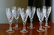 NEMAN,Wide, High Quality 24% Lead CRYSTAL wine glasses, Set of 6, for red wine
