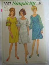 Vintage Simplicity 6997 Dress Elbow-Length Bell Sleeves Sewing Pattern Women