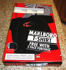 Vintage 1998 MARLBORO Cigarettes T-Shirt Black Mint New With Original Box