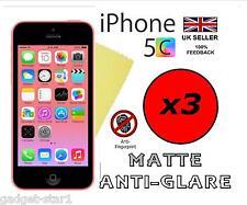 3x HQ MATTE ANTI GLARE SCREEN PROTECTOR COVER FILM GUARD FOR NEW APPLE IPHONE 5C