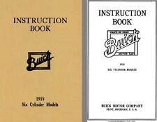Buick 1918 - Instruction Book 1918 Six Cylinder Models