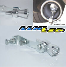 JDM RACING TURBO NOISE SIMULATOR MUFFLER EXHAUST PIPE BLOW OFF VALVE WHISTLE