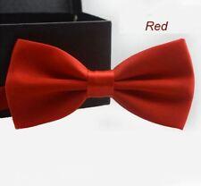 Cravate Homme Garçon Noeud Papillon mariage couleur Rouge