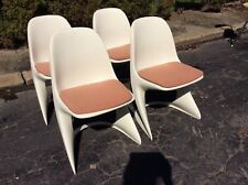 4 Casala Mid Century Chairs  Alexander Begge Design Germany 1970s - Very Good