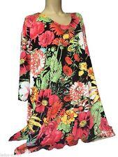 Geblümte Damen-Blusen 3/4 Arm Damenblusen, - tops & -shirts aus Viskose
