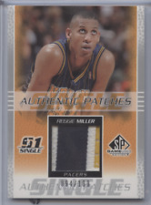 REGGIE MILLER 2003 SP GAME USED AUTHENTIC PATCH /100 PACERS