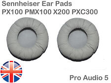 Leather upgrade Ear Cushion Pads Grey Sennheiser PX100 PMX100 X200 PXC300 - UK