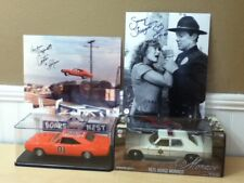 New Listing2 Signed Autographs - Dukes of Hazzard 1/25 1/24 General Lee Sheriff Diecast Lot